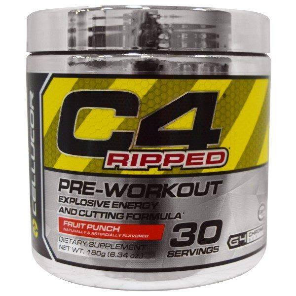 Cellucor C4 Ripped Explosive Energy and Cutting Formula Supplement - 30 Serving, Fruit Punch