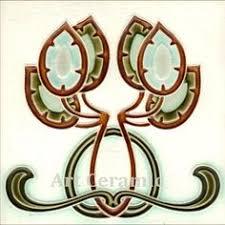Ebay Decorative Wall Tiles by Details About Art Nouveau Reproduction Decorative Ceramic Tile 240