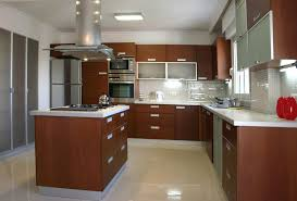 Kitchen Brown Cherry Wood Kitchen Cabinet Ideas With Cream