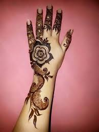 Simple Bail Style Mehndi Designs 2017 for Girls