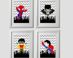 Superhero Comic Wall Decor super hero wall art etsy