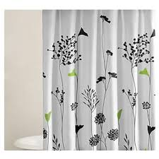Black And White Flower Shower Curtain by Floral Shower Curtains Shop The Best Deals For Nov 2017