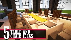 5 Table And Chair Design Ideas Minecraft Furniture Tutorial