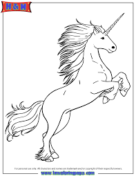 White Unicorn Coloring Page