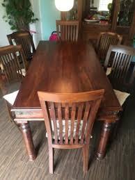 tisch esszimmer sheesham palisander mit 6 stühlen 180 x 90