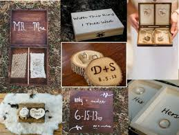Our Favorite Rustic Wood Ring Boxes
