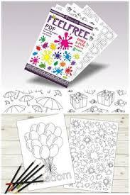 Easy Adult Coloring Book Digital Download Printable Pages PDF Libro De Colorear