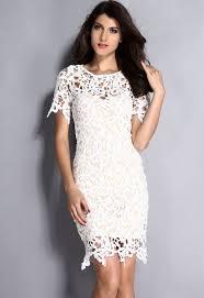 cream white 2pcs hollow out lace midi dress wholesale midi dress