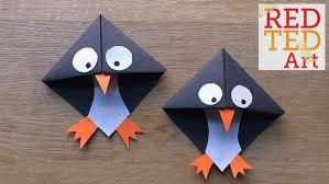 Easy Paper Penguin Corner Bookmark Crafts
