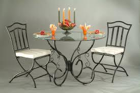 chaise fer forgé de salle à manger lot de 2 arabesque chaise