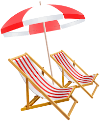 Beach Umbrella And Chairs PNG Clip Art Image