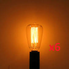 6 pack 25w edison st 12 reproduction antique light bulb e12