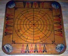 An Antique Carrom Crokinole Board Also Known As American