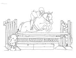 21 Horse Jumping Coloring Pages Animals Printable