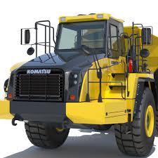 100 Articulating Dump Truck 3D Model Articulated Komatsu HM4005 CGTrader