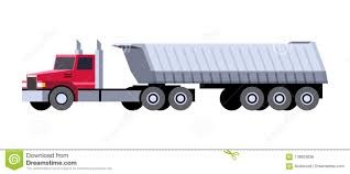 100 Side Dump Truck Truck Semi Trailer Stock Vector Illustration Of