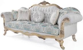 casa padrino luxus barock samt sofa mit kissen grau türkis antik gold 252 x 82 x h 115 cm wohnzimmer möbel im barockstil
