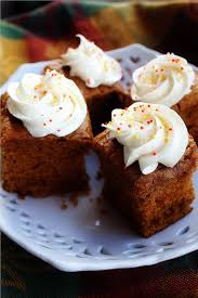 Pumpkin And Cake Mix Dessert by Pumpkin Gingerbread Cake With Spiced Cream Cheese Frosting
