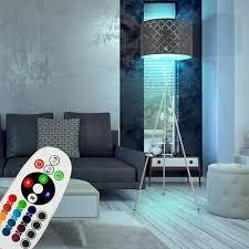 rgb led textil stehle schlafzimmer dimmer fernbedienung dekor deckenfluter