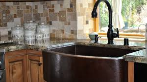 33x22 Copper Kitchen Sink by Copper Kitchen Sink Kitchen Look So Elegant With Wooden Cabinets