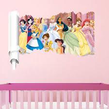 tickers chambre fille princesse neige de bande dessinée fille princesse stickers muraux pour