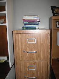 Under Desk File Cabinet Wood by 31 Diy Tutorial How To Cover A File Cabinet With Contact Paper