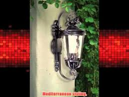 casa marseille 31 high black large outdoor wall light