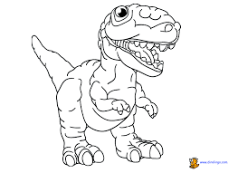 Coloring Book Page Sheet Dinosaur Pages Printout