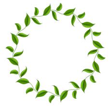 Tea Leaf Circle Wreath Clip Art Green Border Vector 1490 Rh Kisspng Com