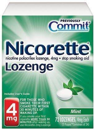 Nicorette 4mg Lozenge - Mint, 72 Lozenges
