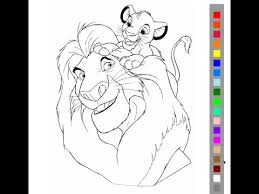 The Lion King Coloring Pages For Kids