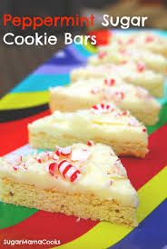 Holiday Cookie Countdown Peppermint Sugar Cookie Bars