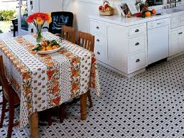 Kitchen Innovative Retro Flooring Intended
