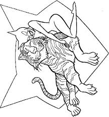 Coloring Page Catwoman And Tiger