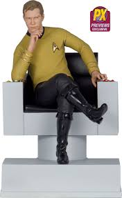 Star Trek Captains Chair by Icon Heroes Star Trek Captain Kirk Statue Bookend The Toyark News