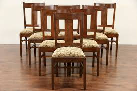 Set Of 8 Arts & Crafts Mission Oak 1905 Antique Dining Chairs, New  Upholstery Kitchen Design Oak Ding Room Table Chairs Art Piece Mission Craftsman Vermont Woods Studios Set Amish And 4 Side New Classic Fniture Designed Nhport With Chair Home Envy Furnishings Solid Wood Floor Lighting Frame Architecture Arts Bathroom Bepreads Custom Made Cherry Style Fixtures Prairie Chandeliers Closeout Special Price Modern Leg 6 Chairs