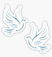 Pair of Doves Sticker