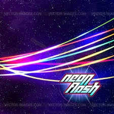 Neon Lines New Retro Wave Background With 80s Vhs