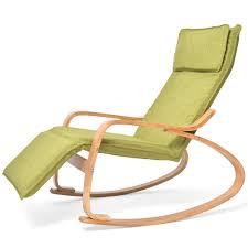 Aich Solid Wood Rocking Chair, Adjustable Lunch Break Chair ...