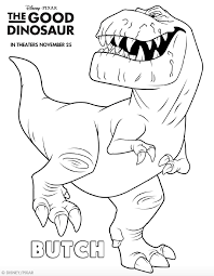 The Good Dinosaur Coloring Pages Throughout