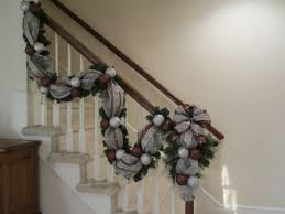 Christmas Stairway Garland & Swag, Tear Drop SET, Deco Mesh, Wall ... How To Hang Garland On Staircase Banisters Oh My Creative Banister Christmas Ideas Decorating Decorate 20 Best Staircases Wedding Decoration Floral Interior Do It Yourself Stairways Southern N Sassy The Stairs Uncategorized Stair Christassam Home Design Decorations Billsblessingbagsorg Trees Show Me Holiday Satsuma Designs 25 Stairs Decorations Ideas On Pinterest Your Summer Adams Unique Garland For