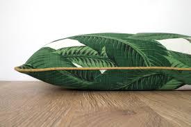 Decorative Outdoor Lumbar Pillows by Banana Leaf Pillow Cover Green And Gold Decor Outdoor Lumbar