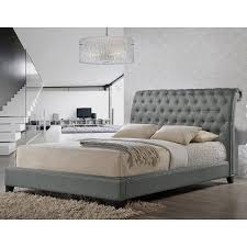 King Platform Bed With Headboard by Amazon Com Baxton Studio Jazmin Tufted Modern Bed With