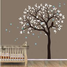 Owl Bedroom Wall Stickers by Diy Large Size Owl Hoot Star Tree Nursery Wall Stickers Removable
