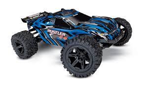 100 Traxxas Stadium Truck Rustler 4X4 110 RTR Blue TRA670641BLUE