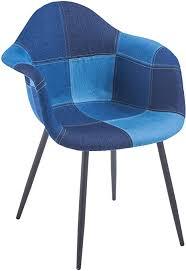 ts ideen design klassiker patchwork sessel retro 50er jahre barstuhl wohnzimmer küchen stuhl esszimmer sitz holz blau