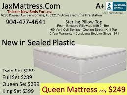 Mattress sale Free pillows Jacksonville new & used furniture