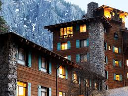Ahwahnee Dining Room Thanksgiving by Yosemite National Park In Winter Sunset