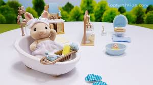 sylvanian families calico critters bathroom set dining table