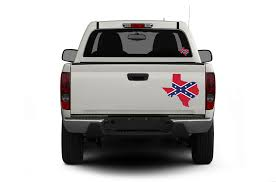 Texas Confederate Flag Decal 1-14